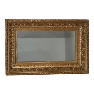 19th Century American Carved, Gilded & Gesso Frame with Mirror C.1880s For Sale