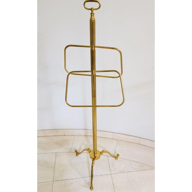 Italian Polished Brass Valet Stand, 1970 For Sale - Image 13 of 13