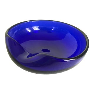 Elsa Peretti for Tiffany & Co. Cobalt Blue Fingering Dish with Original Box For Sale