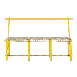 Yellow Industrial Bench For Sale