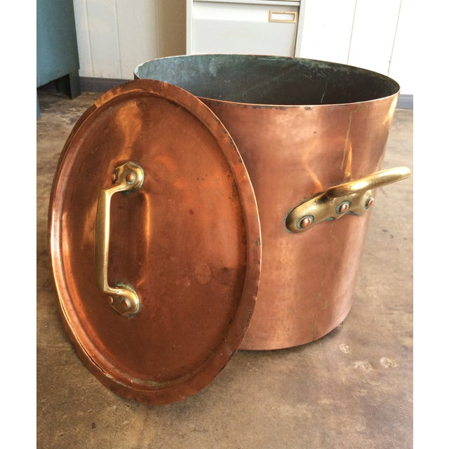 1930s French Copper Stockpot - Image 4 of 8