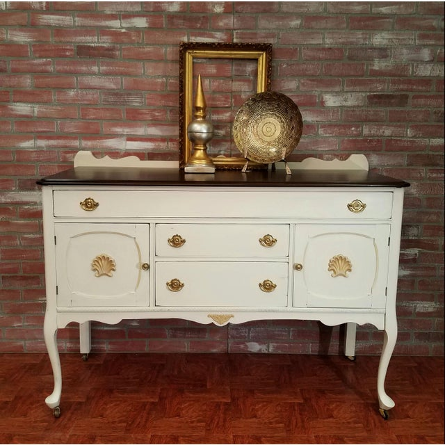Farmhouse Style Buffet Table - Image 2 of 6
