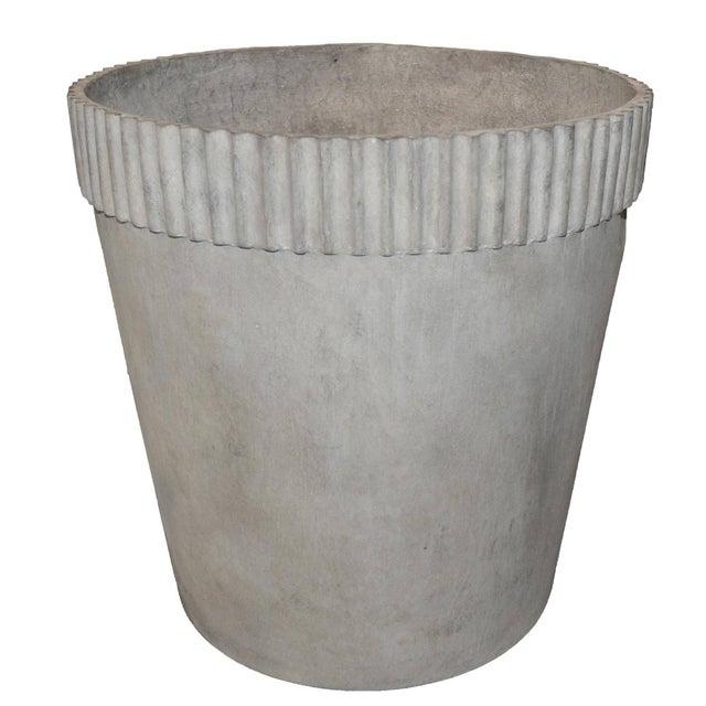 Concrete Mid-Century Modern Cast Fiber Cement Planter For Sale - Image 7 of 7