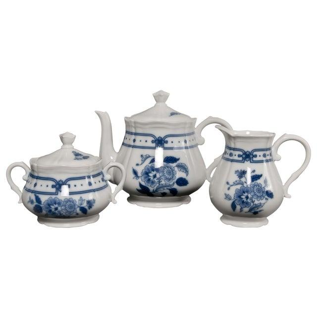 Italian Blue & White Tea Service - Image 1 of 6