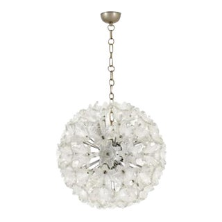 Venini Mid-Centruy Flower Ball Shaped Chandelier