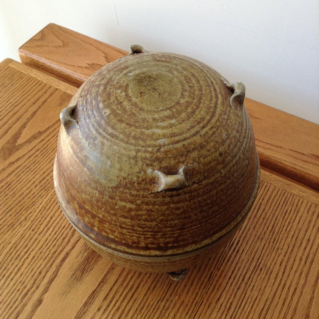 Ceramic Vintage 1960s Ceramic Vessel For Sale - Image 7 of 9