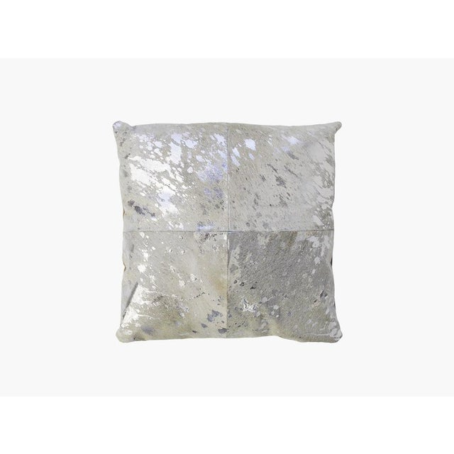 Silver Cowhide Pillow - Image 2 of 3