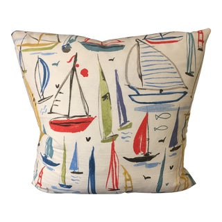 Modern Nautical Down Filled Pillow For Sale