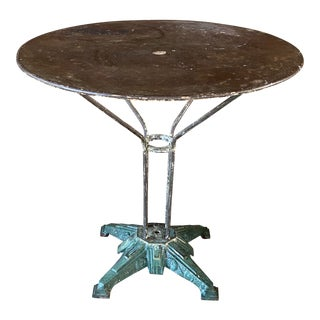 Antique French Cast Iron Bistro Table For Sale