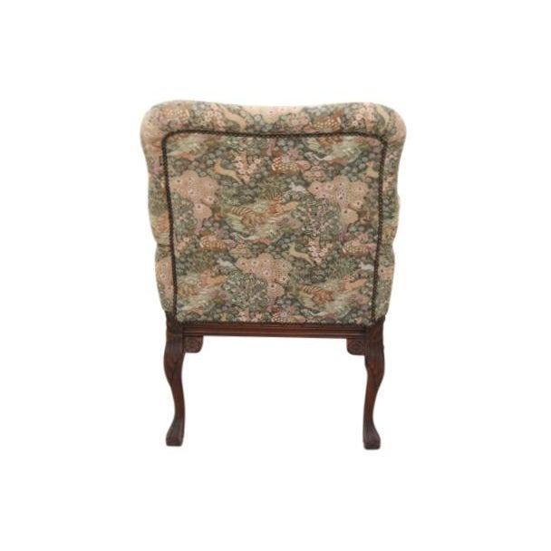 Louis XV Style Jungle Fauteuil and Ottoman - Image 5 of 9