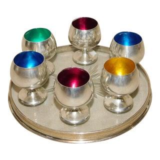 Gorham Sterling Silver Kaddush Set - 7 Piece Set For Sale