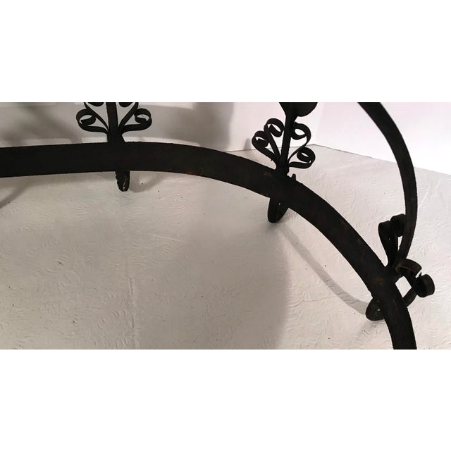 20th Century French Country Black Iron Pot Rack For Sale - Image 10 of 11