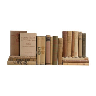 British Culture Books in Weathered Neutrals - Set of 20