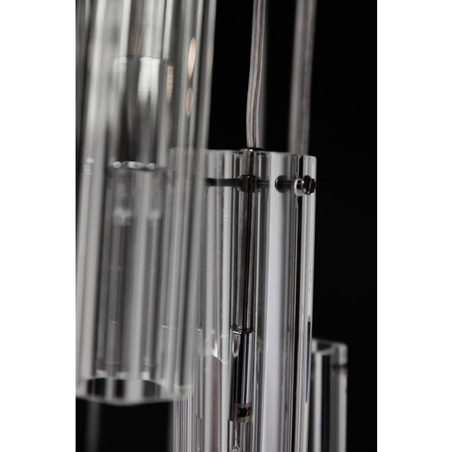"""Cascading Glass Pendant Chandelier, 60"""" For Sale - Image 10 of 13"""