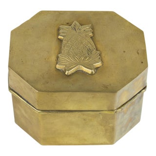 Brass Pineapple Box For Sale