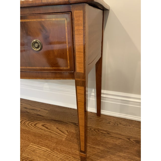 Antique English Vanity Small Desk Mahogany For Sale - Image 10 of 11