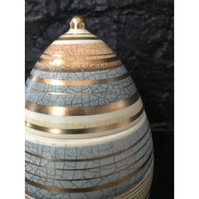 Mid-Century Modern Mid Century Sascha Brastoff Abstract Series Stripe Egg Jar Signed For Sale - Image 3 of 11