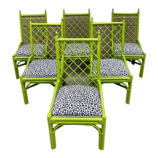 Swell Vintage Used Rattan Dining Chairs Chairish Machost Co Dining Chair Design Ideas Machostcouk