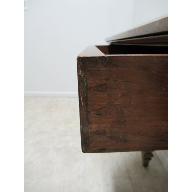 Early French Victorian Marble Top Wall Hall Console Server Table For Sale - Image 9 of 13