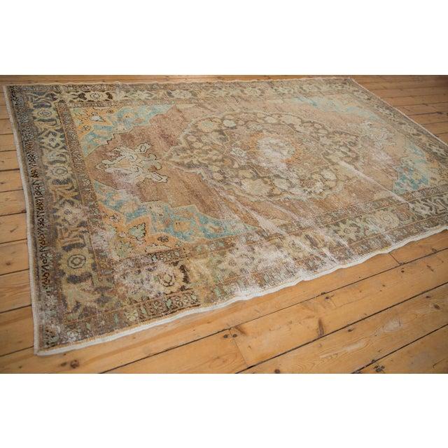 "Textile Vintage Distressed Oushak Carpet - 5'6"" X 8'6"" For Sale - Image 7 of 13"