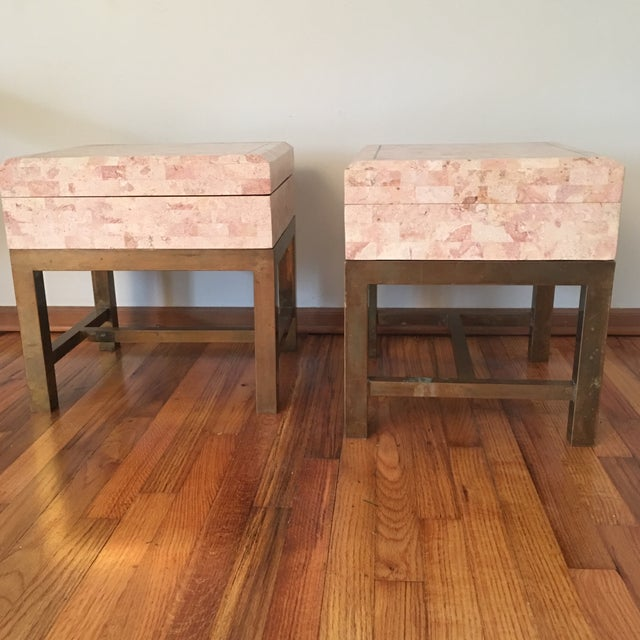 1970s Art Deco Maitland Smith Tessellated Box End Tables - a Pair For Sale - Image 9 of 9