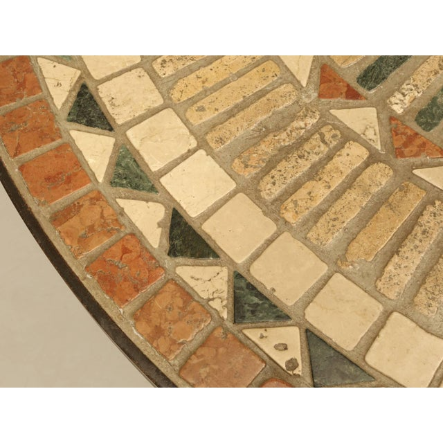 Vintage French Mosaic Garden Table, Seats Up to Nine People For Sale - Image 4 of 9