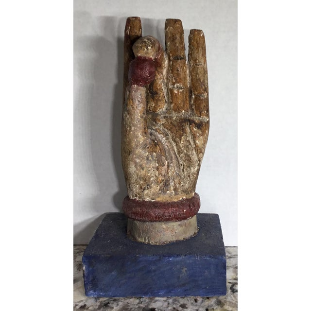 Chinese Wood Buddha Hand Carving For Sale - Image 9 of 10