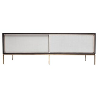 Customizable re: 379 Ebonized Walnut and Painted Cane Credenza