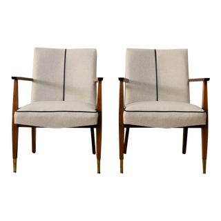 1960s Vintage Restored Stow Davis Arm Chairs - a Pair For Sale