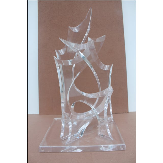 Abstract Lucite Sculpture by Van Tial - Image 3 of 11