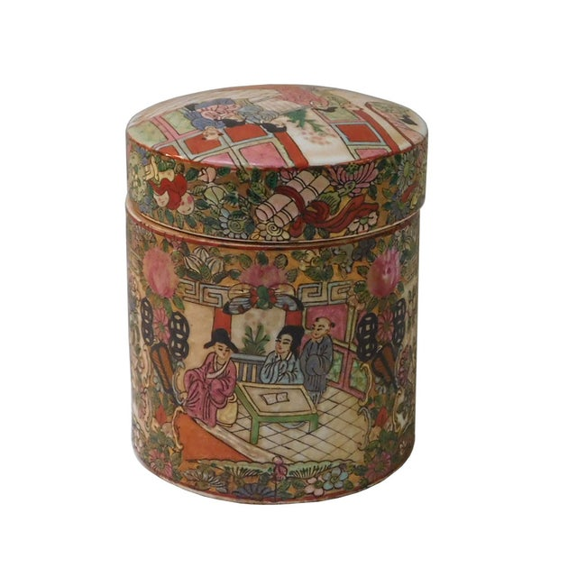 Asian Chinese Oriental Porcelain Container For Sale - Image 3 of 6