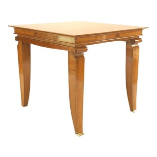 1940s Art Deco Mahogany Game Table For Sale