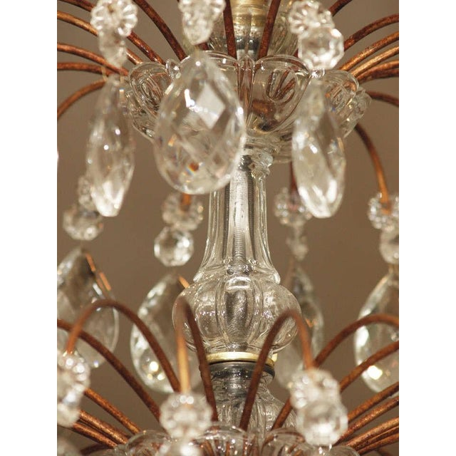Crystal Italian 18 Lite Crystal Tiered Chandelier For Sale - Image 7 of 10