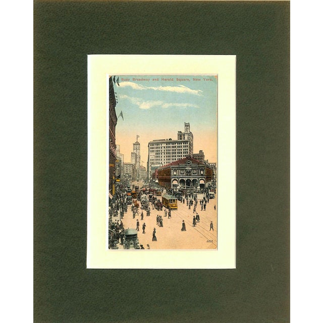 1915 New York City, Herald Square Postcard - Image 2 of 4