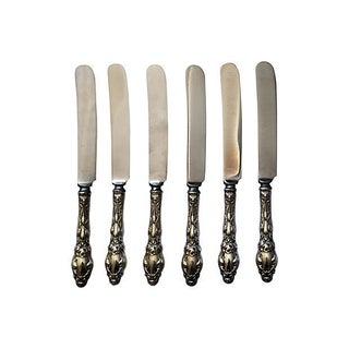Gorham Antique Sterling Silver Knives - Set of 6 For Sale