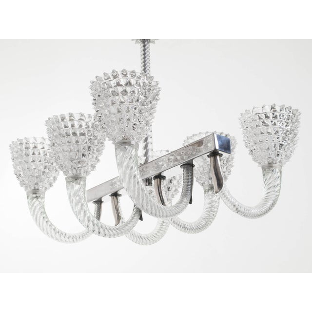 Italian Murano Glass Chandelier by Ercole Barovier For Sale - Image 3 of 11