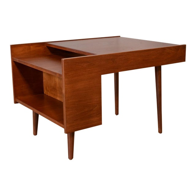 Milo Baughman for Glenn of California Walnut Side Table For Sale