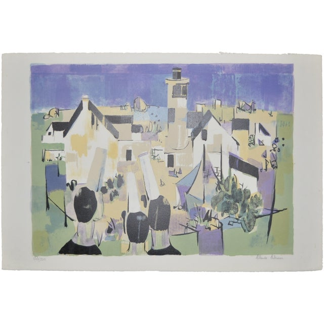 Beautiful limited edition color lithograph by listed artist Claude Schurr. This is number 133/220. Pencil signed lower...