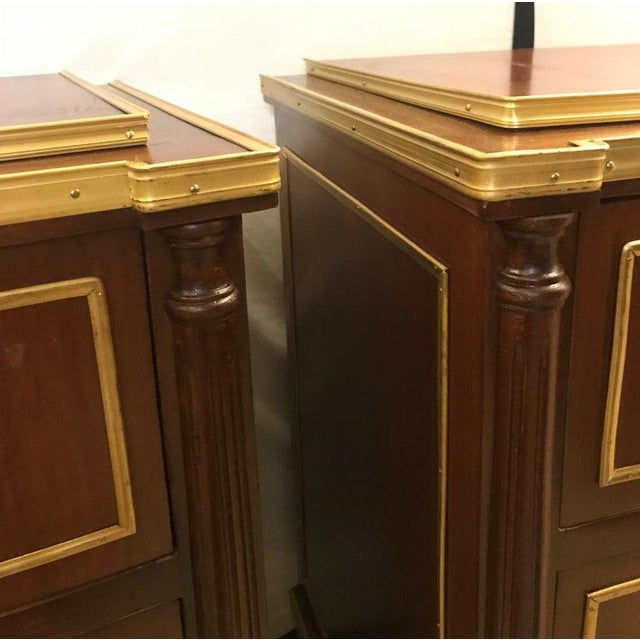 Pair of Russian Neoclassical Style Commodes / Bedside Nightstands or Servers For Sale - Image 10 of 13