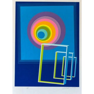Rita Simon Spacescape Hand Signed Numbered Screenprint For Sale