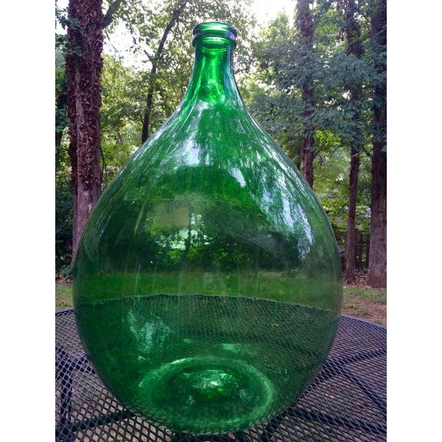 Vintage Italian Green Glass 54 Liter Demijohn - Image 2 of 7