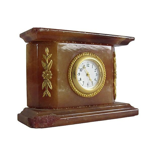 Italian Onyx Clock - Image 3 of 3