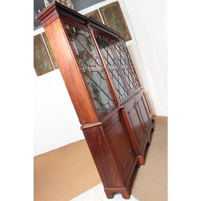 Late 18th Century George III Mahogany Breakfront For Sale - Image 12 of 13