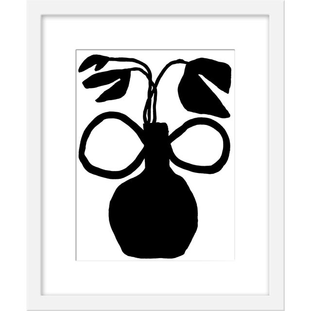"""Small """"Unusual Vase Five"""" Print by Kate Roebuck, 15"""" X 18"""" For Sale"""