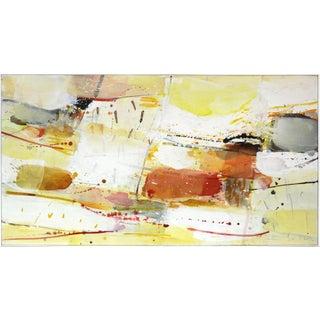 """Greet Helsen """"Sunlit Landscape V"""" Large Abstract Original Painting For Sale"""