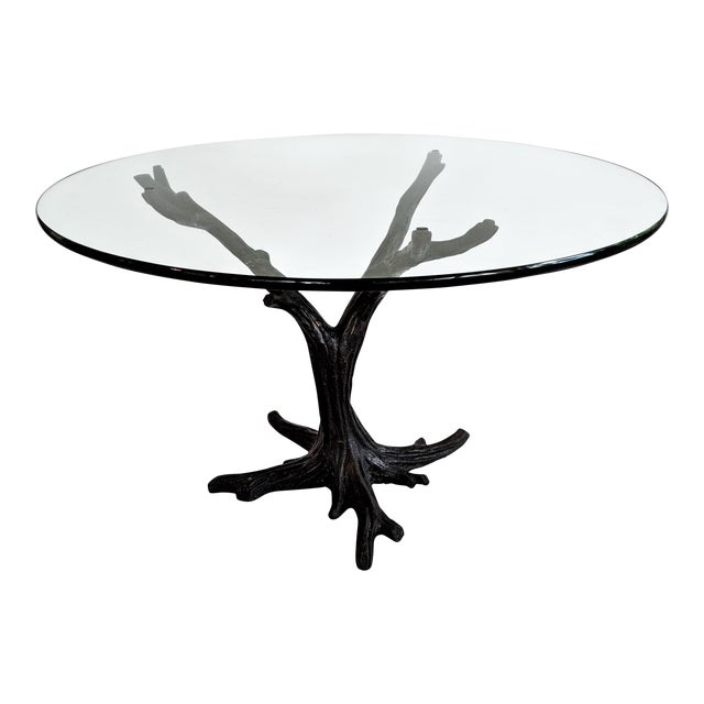 J. A. Mercie French Bronze Tree Sculpture Table For Sale