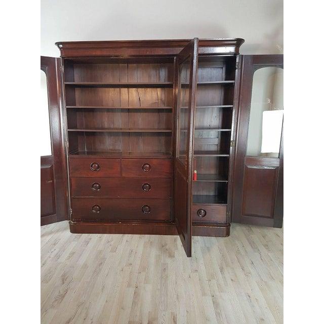 Mahogany 20th Century English Mahogany Wood Bookcase For Sale - Image 7 of 11
