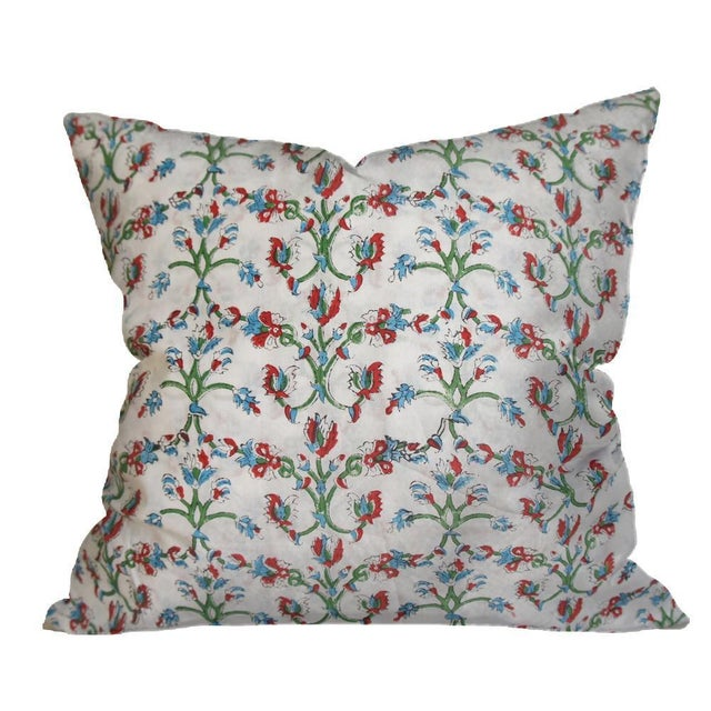 Indian Block Print Euro Pillow - Image 4 of 4