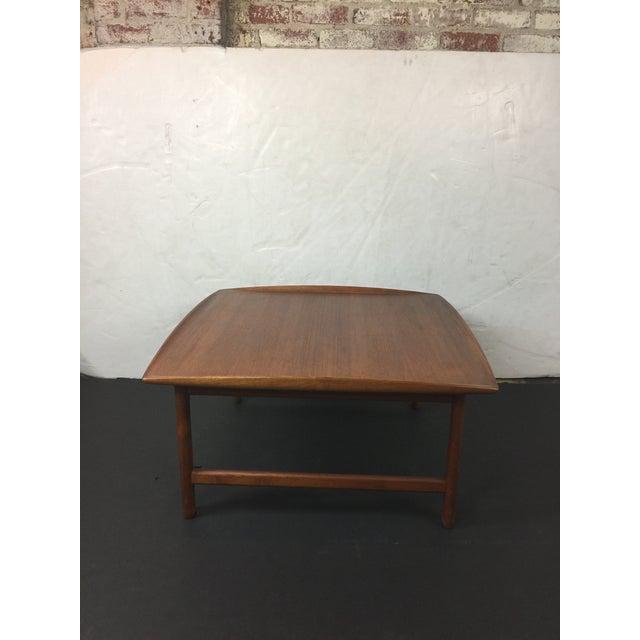 1980s Scandinavian Modern Dux Sweden Teakwood Coffee Table For Sale - Image 10 of 13