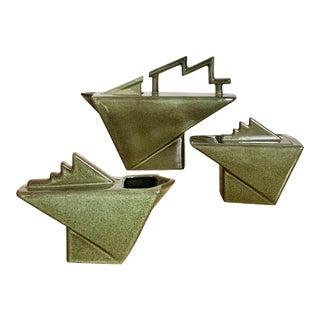 1980s French Deco Pierre Casenove Tea Set - 3 Pieces For Sale